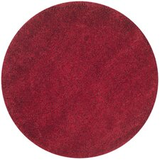 California Shag Red Area Rug