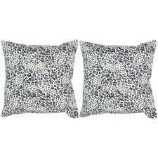 Satin Leopard Decorative Throw Pillow (Set of 2)