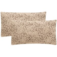 Satin Leopard Decorative Pillow (Set of 2)