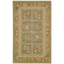 French Tapis Green/Sand Area Rug