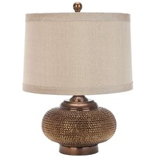 "Alexis Gold Bead 19"" H Table Lamp with Drum Shade"