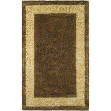 Silk Road Chocolate/Light Gold Area Rug