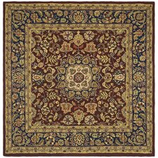 Classic Burgundy & Navy Kerman Area Rug