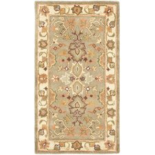 Heritage Light Green & Beige Area Rug