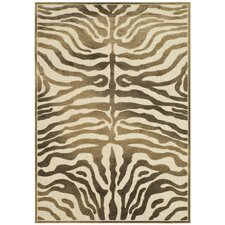 Paradise Zebra Brown Area Rug