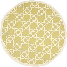 Dhurries DHU548A Olive / Ivory Contemporary Rug