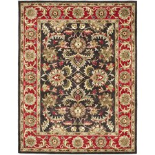 Heritage Chocolate/Red Area Rug