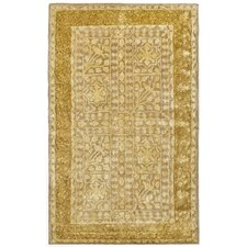 Silk Road Beige/Light Gold Area Rug