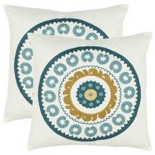 Cotton Throw Pillow (Set of 2)
