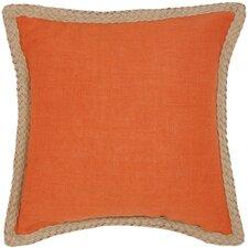 Sweet Sorona Jute Fiber Cotton Throw Pillow (Set of 2)