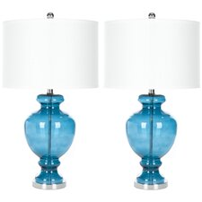 """1 Light 28"""" H Table Lamp with Drum Shade (Set of 2)"""