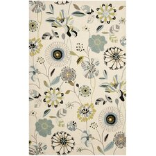 Four Seasons Ivory & Blue Area Rug