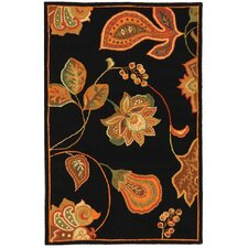 Chelsea Black / Orange Area Rug