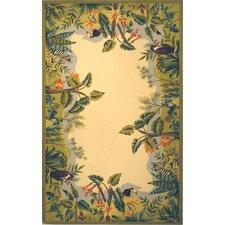 Chelsea Green / Ivory Novelty Area Rug