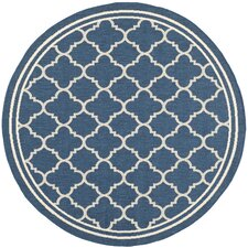 Courtyard Grantham Blue & Ivory Outdoor Area Rug