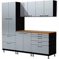 16 Piece Counter Station Storage Cabinet Set