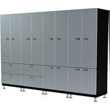 14 Piece Large Wall Storage Cabinet Set