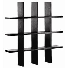 "Tic Tac Toe 79.25"" Accent Shelves Bookcase"
