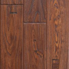 "Zanzibar 5"" Engineered Elm Hardwood Flooring in Antique Cherry"