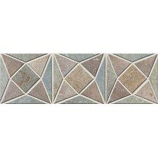 "Slate Quarry Stone 12"" x 4"" Dark Decorative Border"