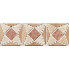 "Slate Quarry Stone 12"" x 4"" Light Decorative Border"