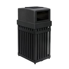 ArchTec Series 25-Gal Parkview 1 Single Trash Receptacle with Ashtray