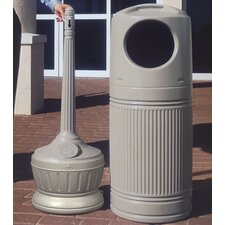 Smokers' Outpost 30-Gal Standard LitterMate Trash and Cigarette Receptacle Combo
