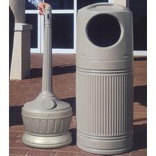 Standard LitterMate Trash and Cigarette Receptacle Combo