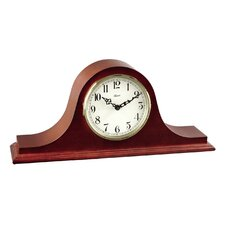 4Tambour Clock in Cherry with Ivory Colored Dial