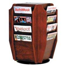 Countertop 16 Pocket Magazine Rotary Display