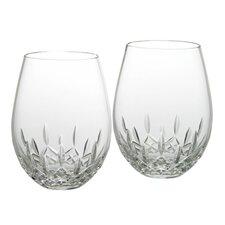 Lismore Nouveau Stemless Wine Glass (Set of 2)