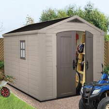 Factor 8 Ft. W x 11 Ft. D Resin Storage Shed