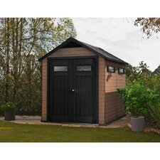 Fusion 7.5 Ft. W x 9.4 Ft. D Wood and Plastic Storage Shed