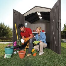 7 Ft. W x 7 Ft. D Plastic Storage Shed