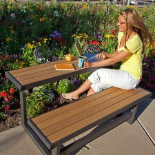 Convertible Wood and Metal Park Bench