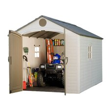 8 Ft. W x 12 Ft. D Plastic Storage Shed