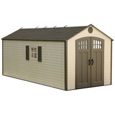 8 Ft. W x 17.5 Ft. D Polyethylene and Steel Storage Shed