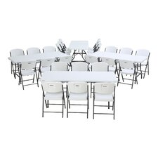 28 Piece Armeless Stacking Chair and Table Set
