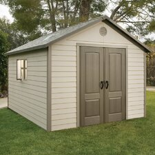 10 Ft. W x 13 Ft. D Plastic Storage Shed