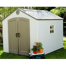 8 Ft. W x 10 Ft. D Plastic Storage Shed