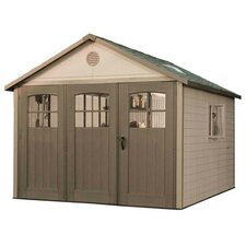 11 Ft. W x 21 Ft. D Plastic Storage Shed