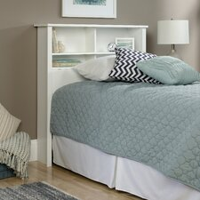County Line Twin Wood Bookcase Headboard in Soft White