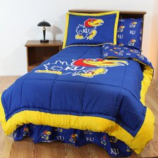 NCAA Kansas Bed in a Bag - With White Sheets