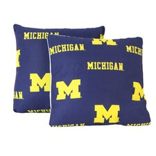 NCAA Michigan Decorative Cotton Throw Pillow (Set of 2)