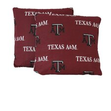NCAA Texas A&M Cotton Throw Pillow (Set of 2)