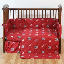 NCAA 5 Piece Crib Bedding Set