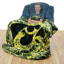 NCAA Iowa Throw Blanket