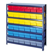 Open Shelving Storage System with Various Euro Drawers