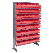 Single Sided Pick Rack Storage Systems with Euro Bins