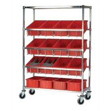 Slanted Wire Pick Racks Storage Unit with Dividable Grid Bins